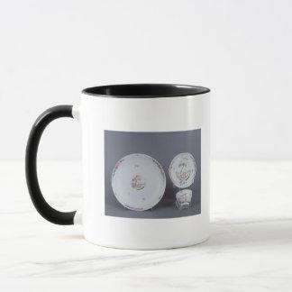 Mug Teabowl de Worcester et soucoupe et plat