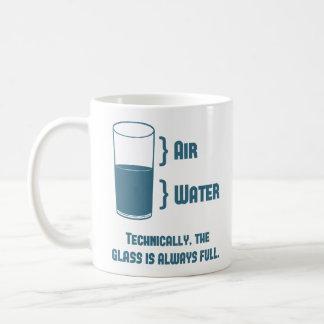 Mug Techniquement le verre est toujours plein
