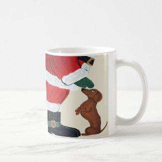 Mug Teckel et Père Noël