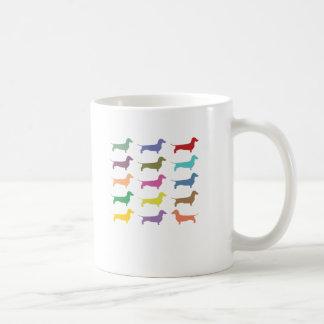 Mug Teckels multicolores