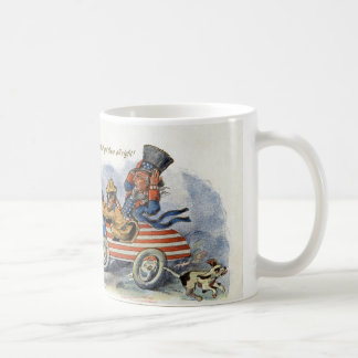 Mug Teddy Roosevelt et Oncle Sam dans l'automobile