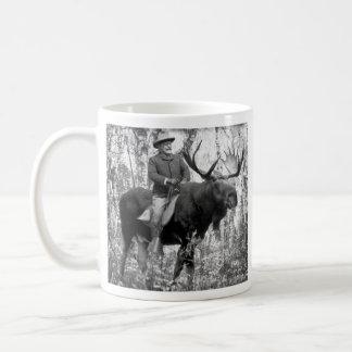 Mug Teddy Roosevelt montant un orignal de Taureau