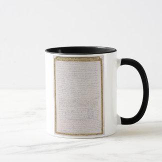 Mug Télécopie d'une lettre d'Elizabeth I à Francois