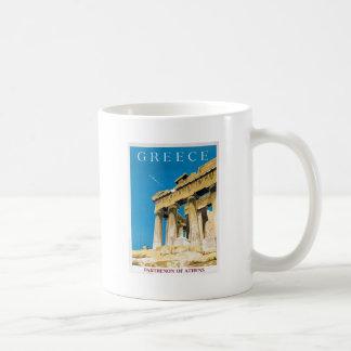 Mug Temple vintage de parthenon d'Athènes Grèce de