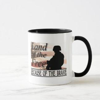 Mug Terre du libre en raison du courageux