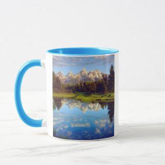 Mug Tetons grand se reflétant en rivière Snake