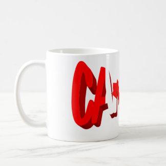 Mug Texte de drapeau du Canada