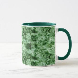 Mug Texture de marbre verte