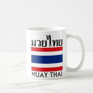 Mug Thaïlandais de Muay + Drapeau de la Thaïlande