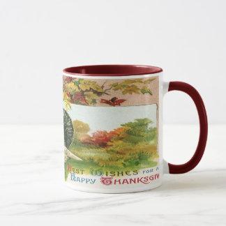 Mug Thanksgiving vintage, couleurs sauvages d'automne