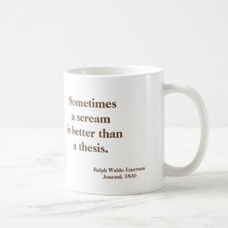 Mug Thèse d'Emerson drôle - image sur l'inverse