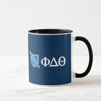 Mug Thêta de delta de phi - Grec blanc Lettters et