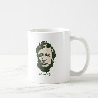 Mug Thoreau - simplifiez