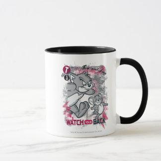 Mug Tom et Jerry observent votre dos