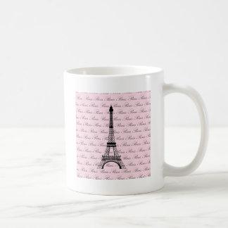 Mug Tour Eiffel rose et noir de Paris