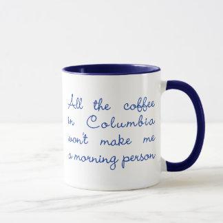Mug Tout le café en Colombie (bleu marine)
