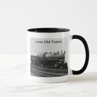 Mug Train vintage de machine à vapeur de vieux trains