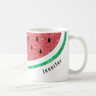 Mug tranche nommée faite sur commande de pastèque de
