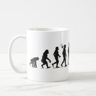 Mug Transformation humaine de Silhouette-Rangée de