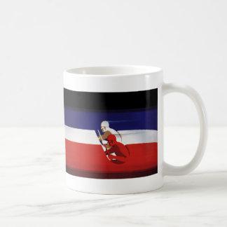Mug Transport vintage, voitures de course patriotiques