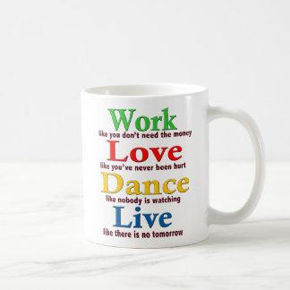Mug Travail, danse d'amour, vivante