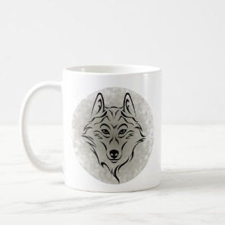 Mug Tribal black wolf 2 in the moon