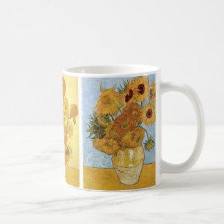 Mug Triptyque de tournesols par Vincent van Gogh