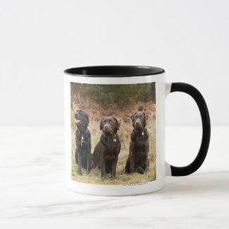 Mug Trois chiens d'arrêt de Labrador noirs
