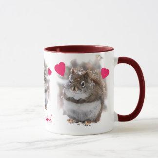 Mug Trois écureuils doux Valentine