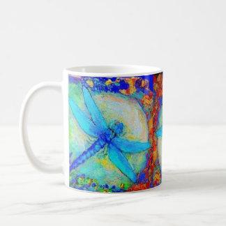 """Mug Trois libellules bleues de """"Zinger"""""""