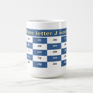 Mug Trois mots de la lettre J pour des mots croisé ou