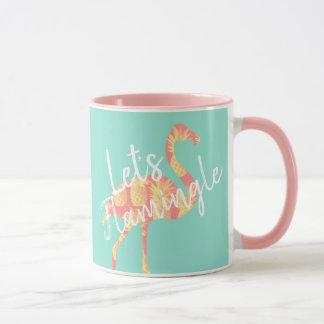 Mug Tropical laissez-nous flamant et ananas de