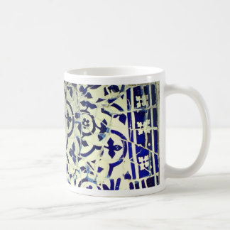 Mug Tuiles de mosaïque de Guell du parc de Gaudi