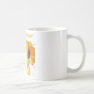 Mug Tulipes jaunes dans le cadre rond coloré