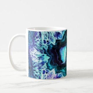 Mug Turquoise assez glaciale et cristal pourpre de