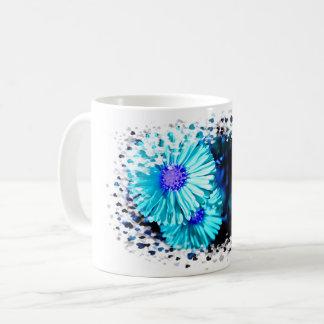 Mug Turquoises asters Heart-burst