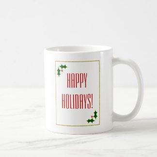 Mug Typographie de Noël de scintillement d'or de Faux