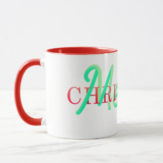 Mug Typographie entrelacée de Joyeux Noël