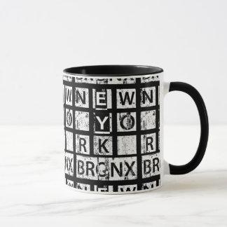 Mug Typographie grunge de Bronx New York |