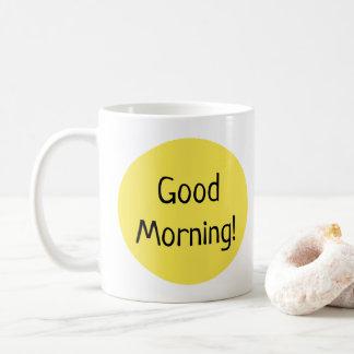 Mug Typographie jaune ensoleillée bonjour