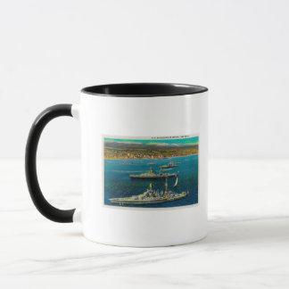Mug U.S. Cuirassés ancrés à Long Beach