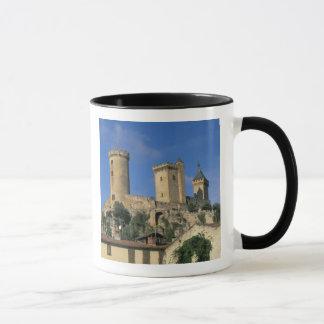 Mug UE, France, Foix, Ariege, Pyrénées. Château