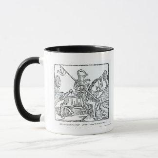 Mug Un chevalier, jeu de Caxton du 'des échecs