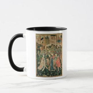 Mug Un noble saluant Madame avec ses employés