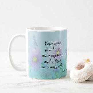 Mug Une lampe à mes pieds, 119:105 de psaumes