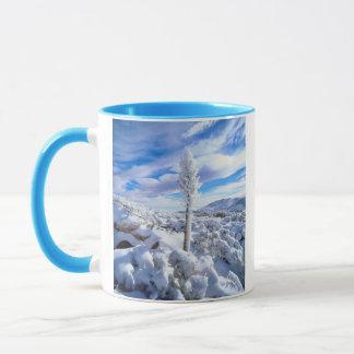 Mug Une neige a couvert le yucca