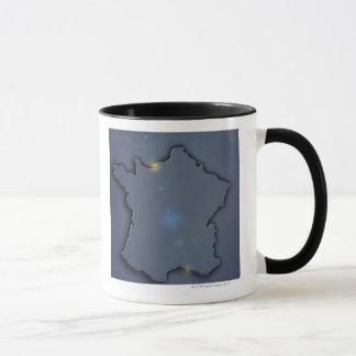 Mug Une représentation bleue simple de carte du