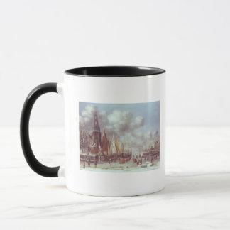 Mug Une scène d'hiver à Amsterdam