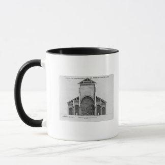 Mug Une section transversale de la vieille église de