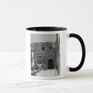 Mug Une vieille maison dans Lindos, Rhodes